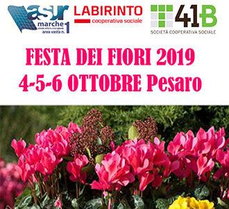 FESTA DEI FIORI 2019<br>4-5-6 OTTOBRE<br>PESARO